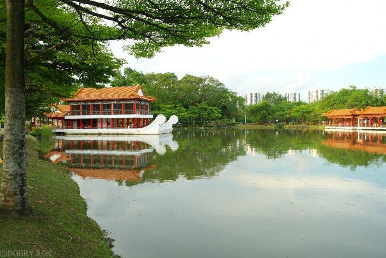 Japoński i chiński park-ogród w Singapurze