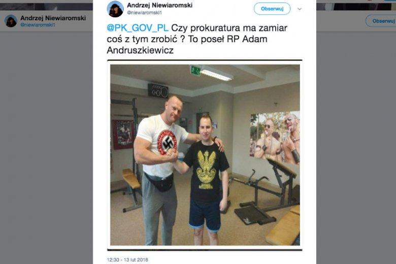 To zdjęcie na Twitterze pojawiło się 13 lutego. Choć szybko wykryto, że jest to fejk, to autor nadal nie usunął go z profilu.