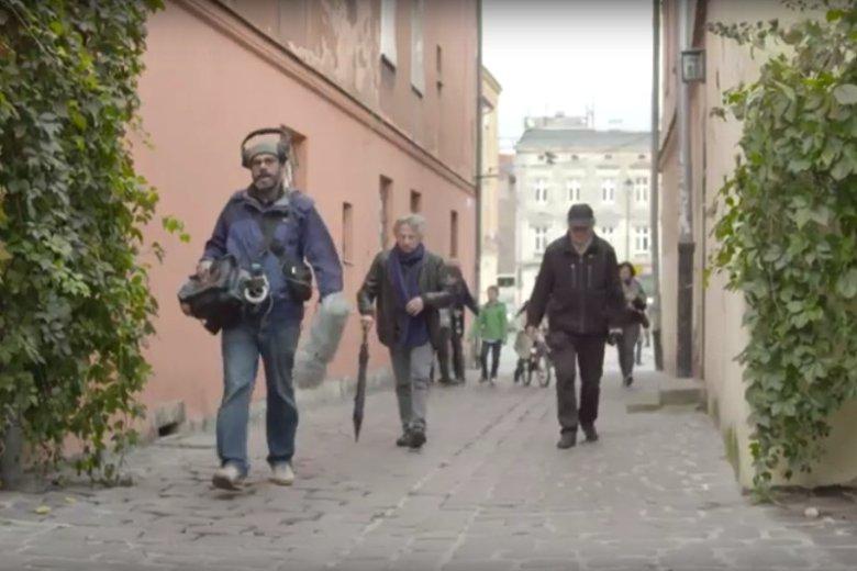 Roman Polański i Ryszard Horowitz na ulicach Krakowa.