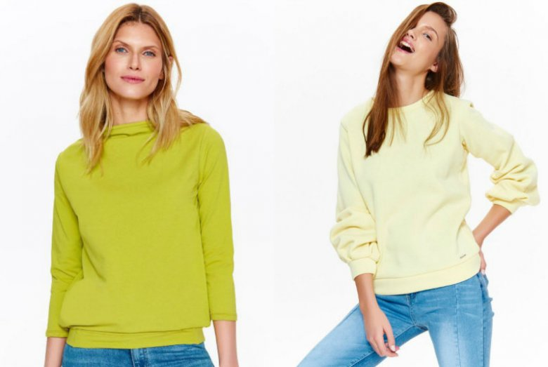 Nasycone, neonowe kolory - to na nie czekałyśmy całą zimę. Lekkie bluzy Top Secret w słonecznych kolorach ocieplą początek wiosny