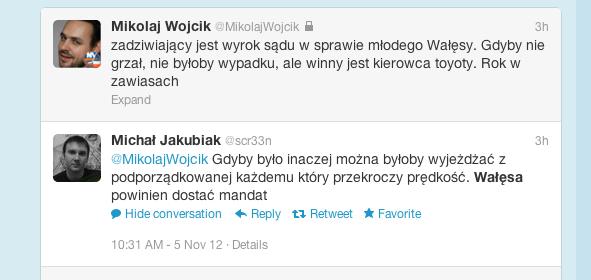 dyskusja po wyroku ws. wypadku Jarosława Wałęsy