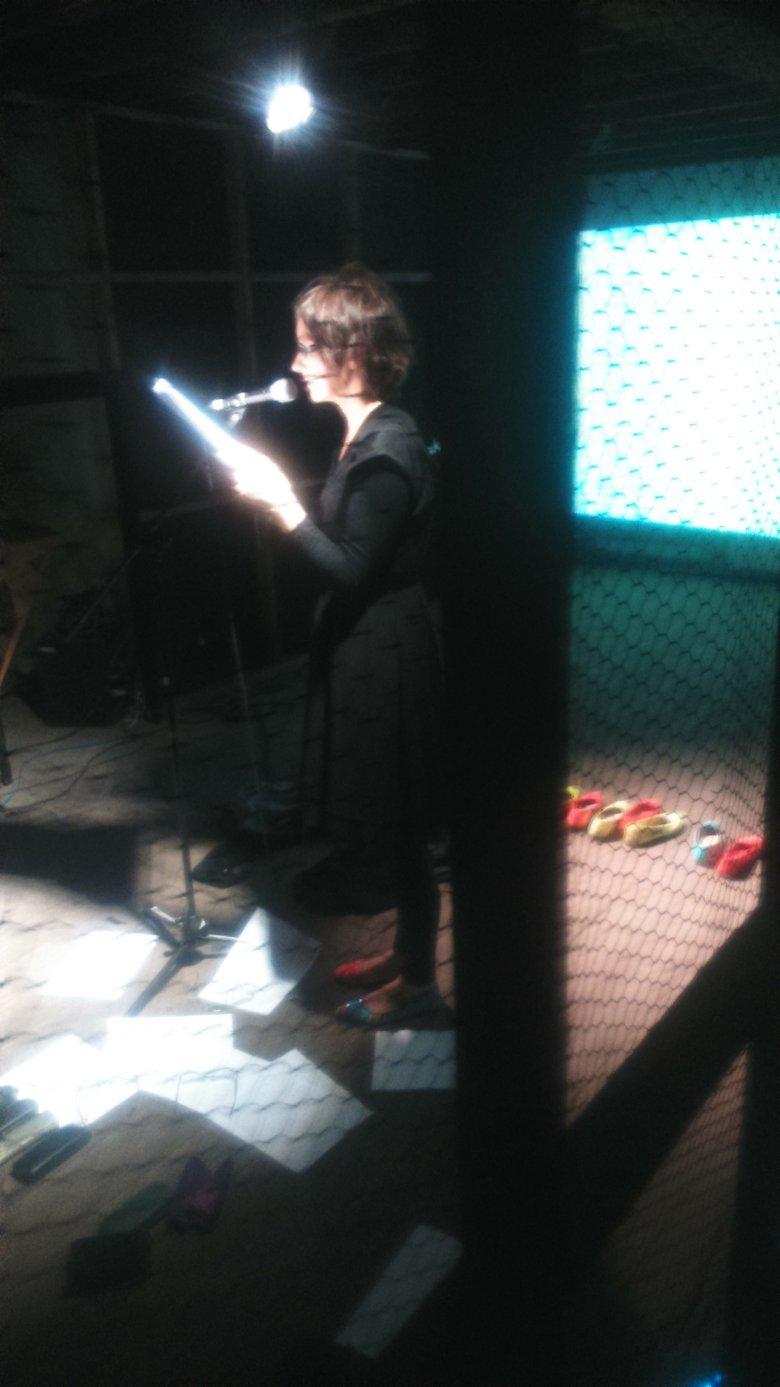 """""""PERFORMANCE SZEPTANY. LISTY"""" (Hommage a T. Kantor Wielopole Wielopole), Hidden Door Festival, Edinburgh. foto Norbert Delman"""