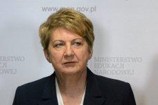 """Wiceminister edukacji Teresa Wargocka znana jest z projektu ustawy o zakazie in vitro, teraz przygotowywała projekt ustawy """"Za życiem""""."""