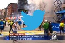 Twitterowe relacje z Bostonu pełne były brutalnych obrazów