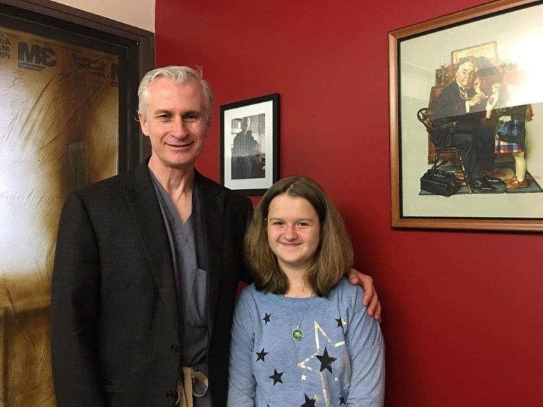 Prof. Hanley i Julia.