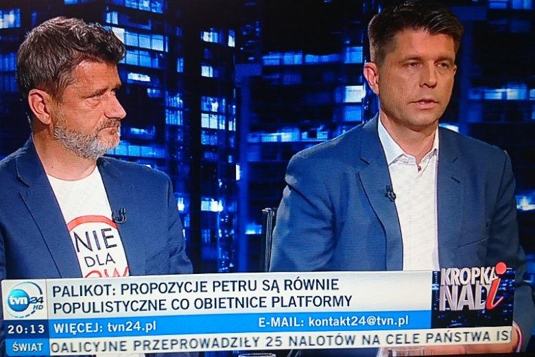 Janusz Palikot i Ryszard Petru byli w środę gośćmi Moniki Olejnik.