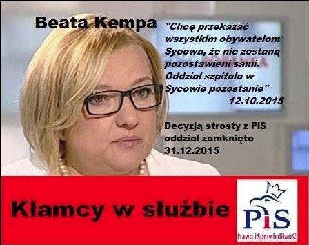Ta niedotrzymana obietnica świadczy o tym, że Beata Kempa raczej nie zna się na polityce zdrowotnej.