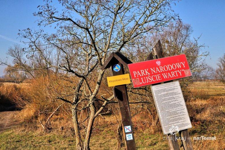 Tablica Parku Narodowego Ujście Warty