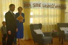 Para prezydencka w przedszkolu w Michałówce, powiat garwoliński.