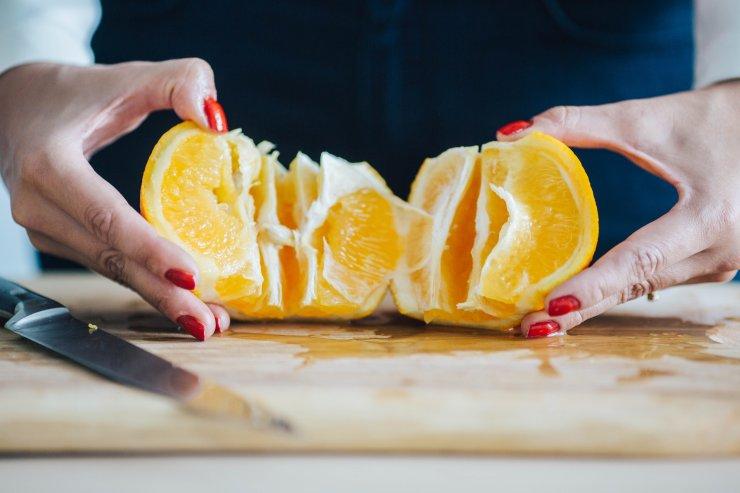 ...i rozwijamy pomarańczową harmonijkę.