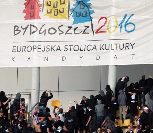 Pamiętne zdjęcie z finału Pucharu Polski w Bydgoszczy
