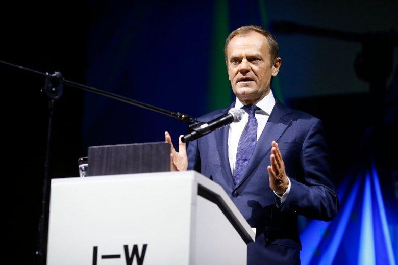 Donald Tusk wystąpił na Igrzyskach Wolności w Łodzi.