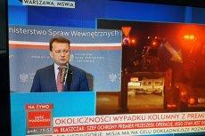 Zieliński przyznał, że uderzenie seicento to mógł być zamach. I zapowiada... zmianę nazwy Biura Ochrony Rządu