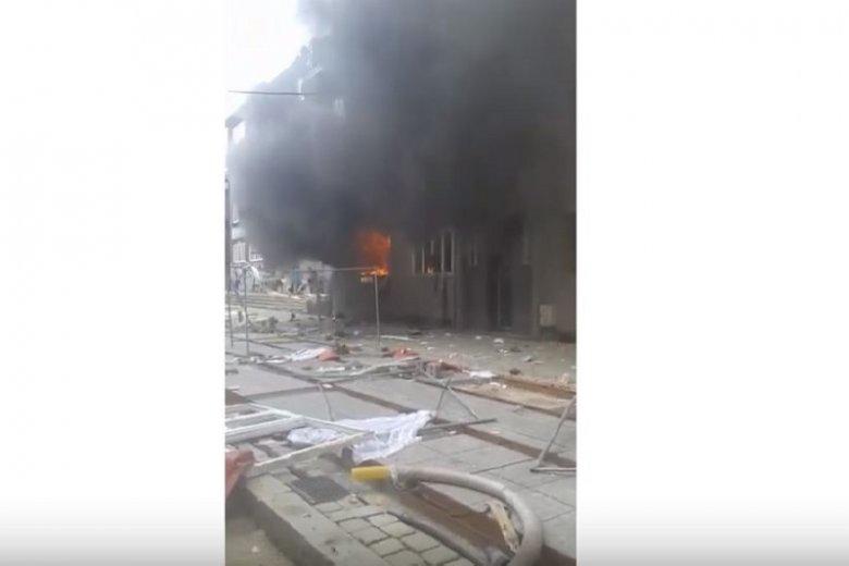 Nagranie z momentu po wybuchu gazu w kamienicy w Bytomiu.
