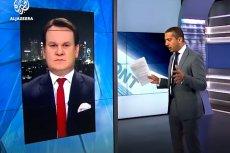 Poseł PiS Dominik Tarczyński wystąpił w arabskiej telewizji Al Jazeera