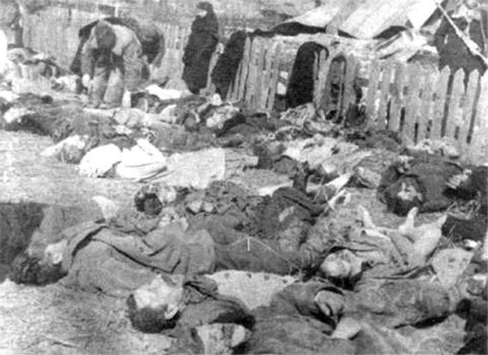 Ofiary zbrodni w Lipnikach.
