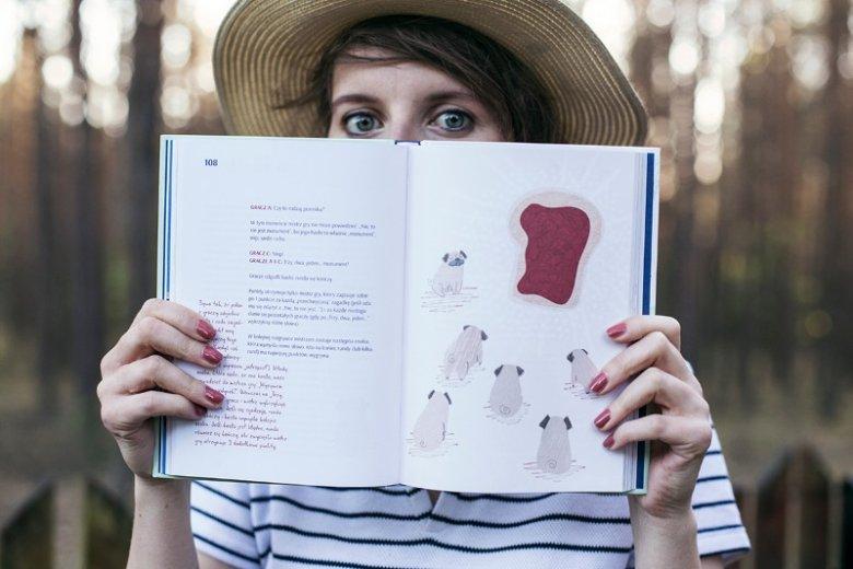 Książka Joanny Glogazy, poza świetną treścią, jest również pięknie zilustrowana