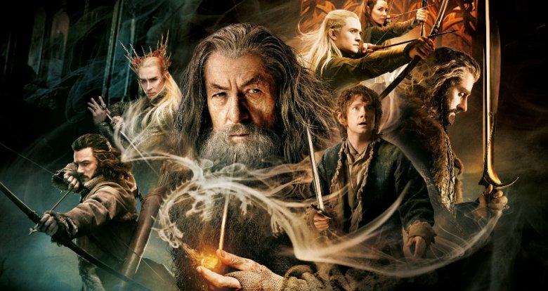 """Fragment plakatu promującego """"Hobbita: Pustkowie Smauga"""". Wydanie DVD i Blu-ray od 22 kwietnia dostępne jest w sprzedaży."""