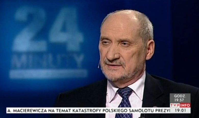 Antoni Macierewicz publicznie zaatakował TVP