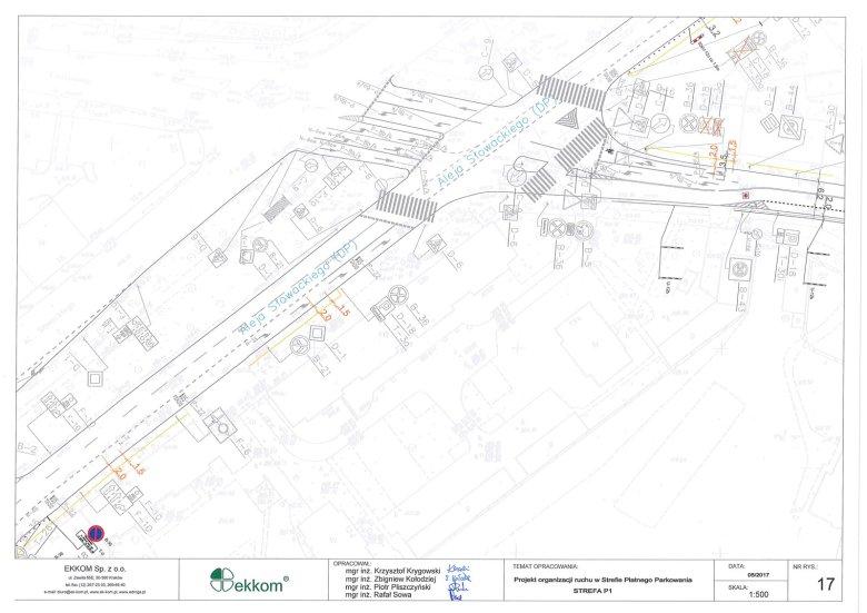 Projekt organizacji ruchu w Strefie Płatnego Parkowania w Krakowie - strefa P1