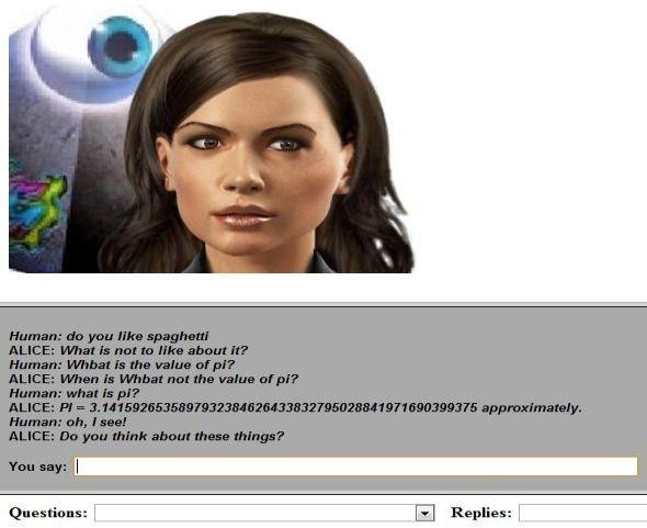 """Jeden z bardziej znanych """"chatbotów"""" ALICE."""