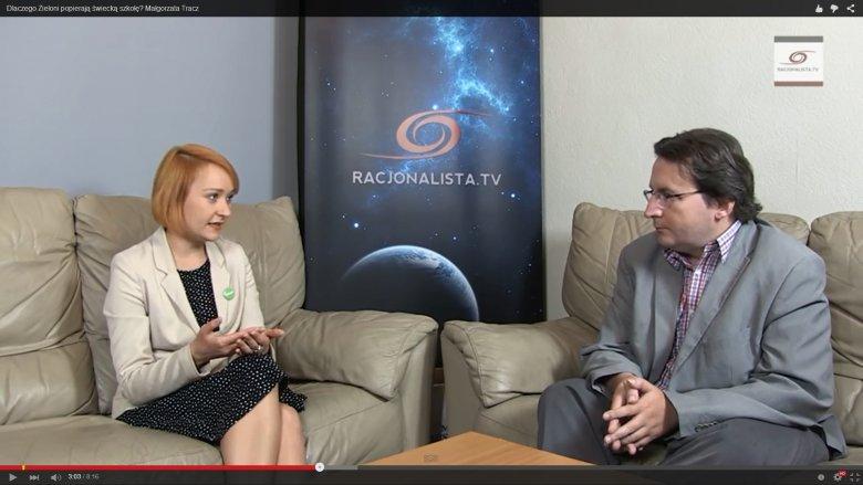 Rozmawiam z Małgorzatą Tracz, współprzewodniczącą Partii Zieloni. Oboje kandydujemy ze Zjednoczonej Lewicy