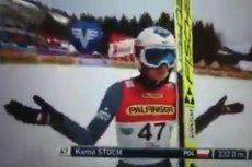 No i co, panie Borku? - taka była reakcja Kamila Stocha na skok w fatalnych warunkach na skoczni mamuciej Kulm w Austrii.