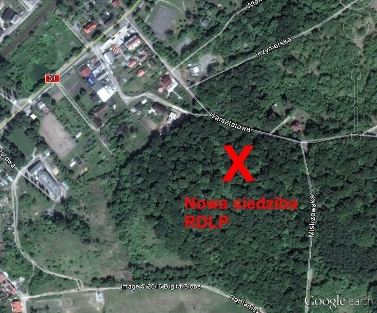 Planowana lokalizacja siedziby RDLP w Szczecinie.