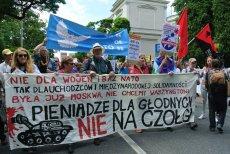 Protest w czasie szczytu NATO! Inny głos wśród ogólnych zachwytów nad spotkaniem przywódców sojuszu.