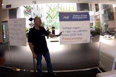 Dyrektor polskiego oddziału Greenpeace'u w gabinecie prezesa PGE