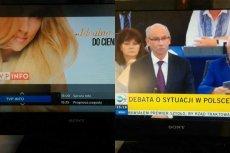 To widzieli widzowie TVP INFO i TVN24 podczas debaty o Polsce w Parlamencie Europejskim.