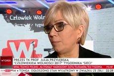 """Julia Przyłębska przy okazji wręczenia tytułu """"Człowieka roku"""" tygodnika """"Sieci"""" dostąpiła kolejnego zaszczytu:  """"awansowała"""" na profesora w TVP Info"""