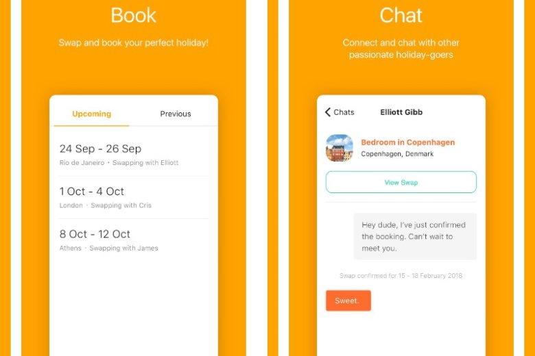 W aplikacji w prosty sposób dokonuje się rezerwacji, a na dostępnym czasie można porozmawiać z właścicielem nieruchomości