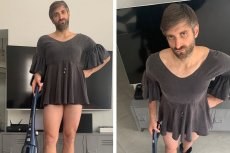 Maciej Dowbor wrzucił do sieci zdjęcie, na którym jest w sukience. Nie wszystkim to się spodobało