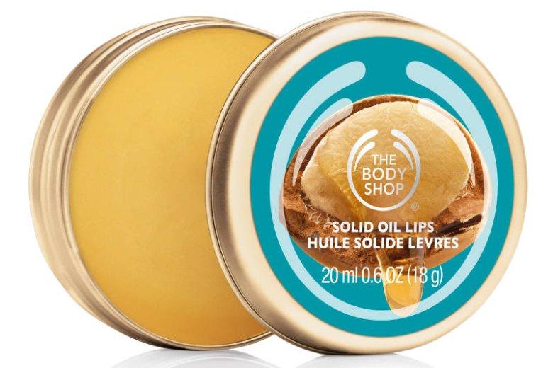 Balsam z olejem arganowym Argan Solid Oil Lips The Body Shop