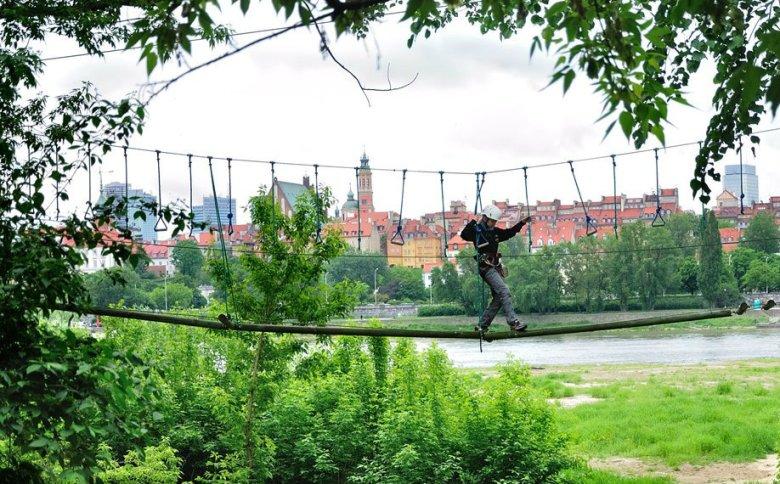 W Parku Linowym nad Wisłą mamy do wyboru trzy trasy o różnym stopniu trudności.