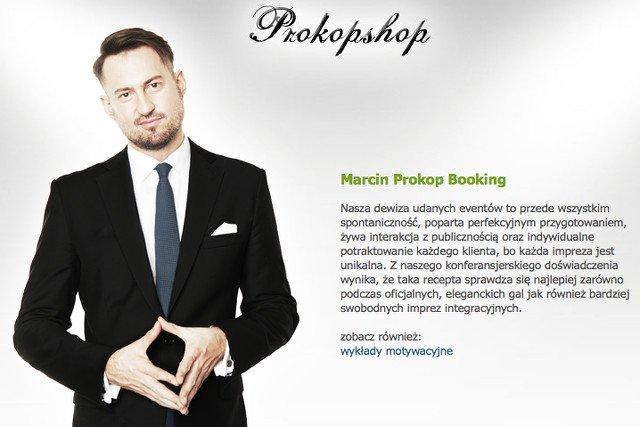 Marcin Prokop z konferansjerki chce wyciągnąć pierwszy milion. Prowadzi również firmowe spotkania opłatkowe.