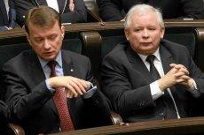 Szef klubu PiS Mariusz Błaszczak i Jarosław Kaczyński