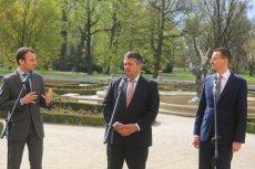 Emmanuel Macron z wicepremierem Mateuszem Morawieckim.