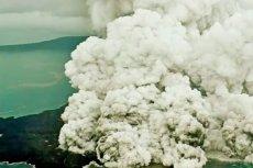 Erupcja wulkanu Anak Krakatau w Indonezji.