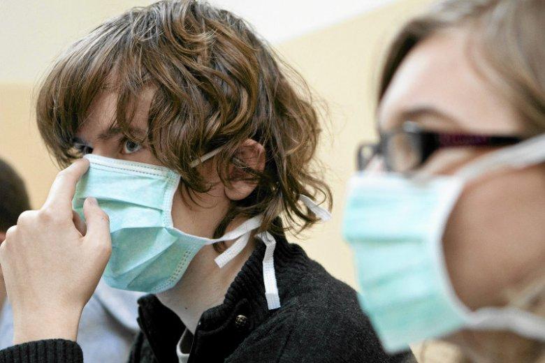 Niestety maseczka nie uchroni nas przed grypą...