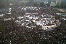 Protesty na Placu Tahrir w centrum Kairu podczas Arabskiej Wiosny.