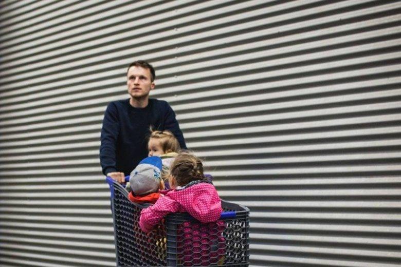 Kamil Pivot z dziećmi