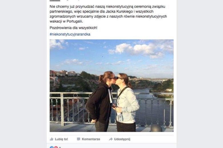 Kobiety, które zdecydowały się wziąć udział w akcji Kampanii Przeciw Homofobii