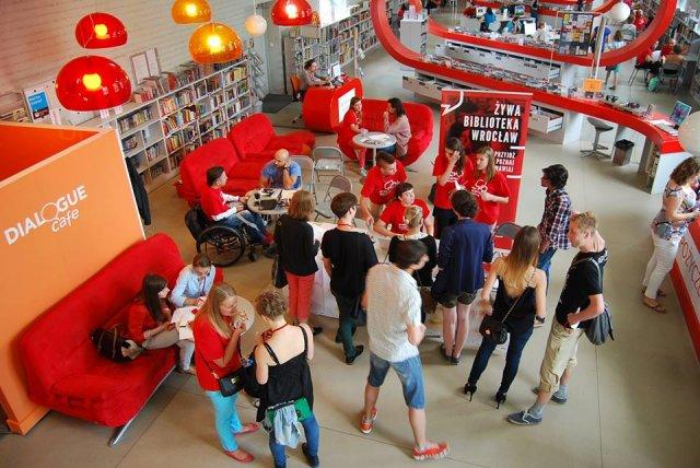 wrocławska Mediateka, podczas Żywej Biblioteki