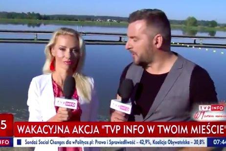 TVP Info odwiedziło Siedlce. Nie wszyscy byli zadowoleni z wizyty kontrolowanej przez PiS telewizji.