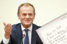 Donald Tusk dostał uroczą laurkę od 6-latki