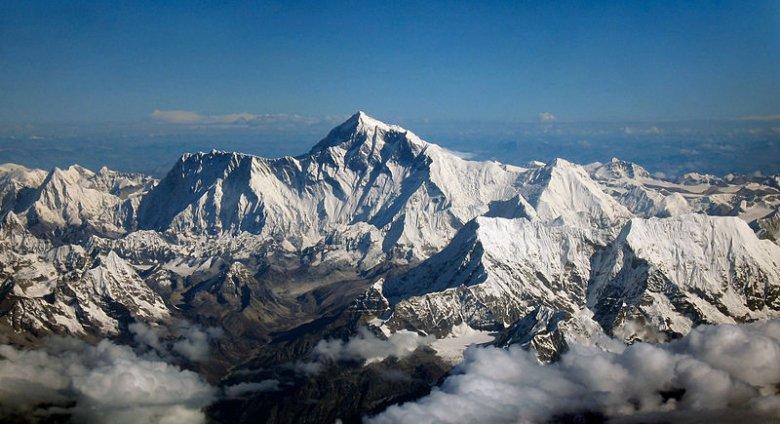Mount Everest z lotu ptaka