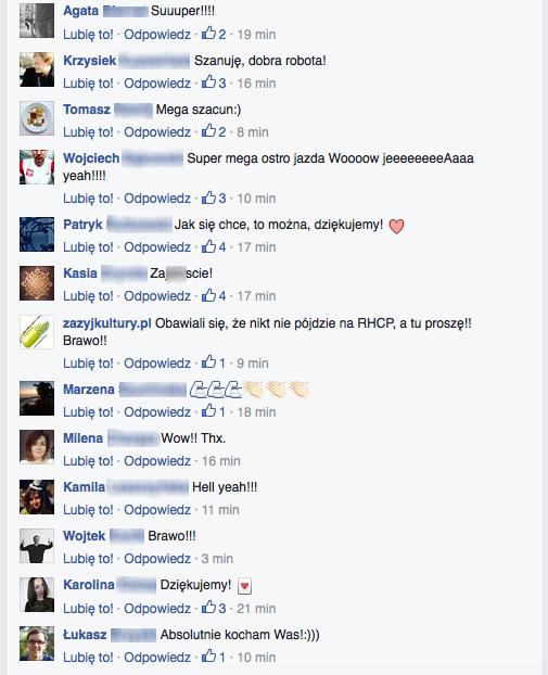 Internauci reagują na utworzenie Strefy Kibica w trakcie Open'era.