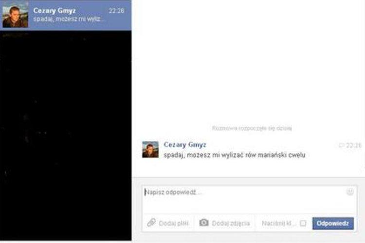 Cezary Gmyz w mało kulturalny sposób odpowiedział na Facebooku internaucie